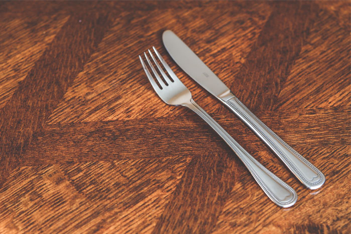 Silver plated fork
